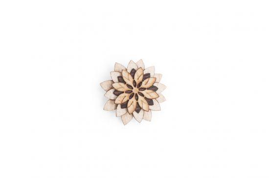 BeWooden - Ozdoba do chlopne na saku Bellis Flower pre mužov