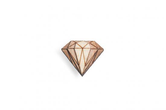 BeWooden - Ozdoba do chlopne Diamond Lapel pre mužov
