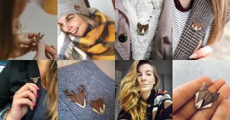 BeWooden - Drevené brošne – doplnok inšpirovaný prírodou