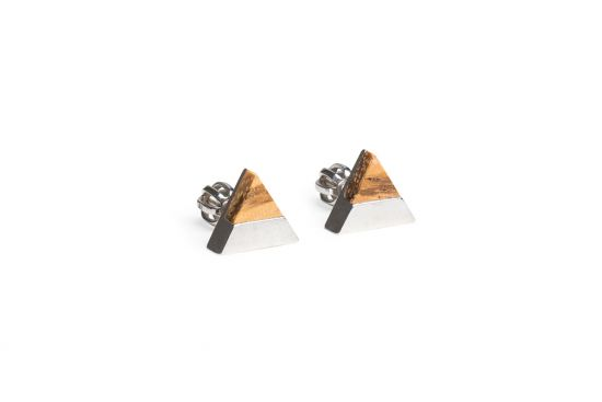 BeWooden - 0 Api earrings triangle
