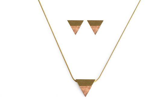 BeWooden - 00 Sole necklace & earrings set