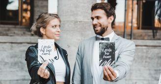 Rebelská svadba v čiernobielom