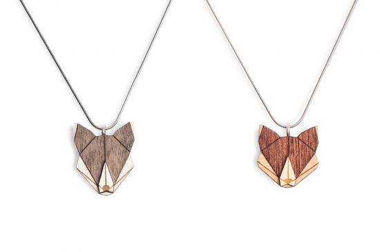 Wolf & Fox Pendant Set