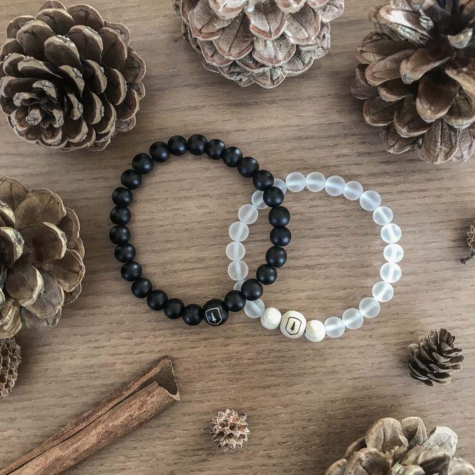 dřevěné náramky Cassio a Ice bracelet