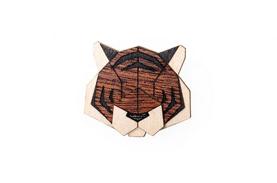 BeWooden - Tiger Brooch