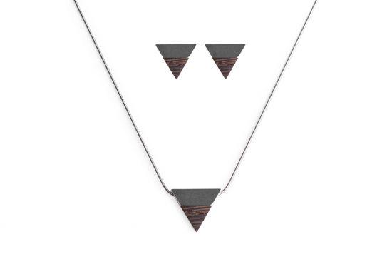 BeWooden - Earrings & Necklace Deco Set