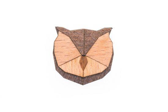 BeWooden - Owl Brooch