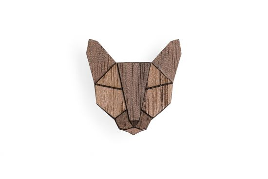BeWooden - Russian Cat Brooch