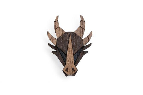 BeWooden - 0 Dragon brooch