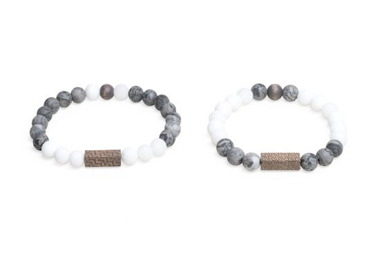 BeWooden - 0 Viame & White  couple bracelets