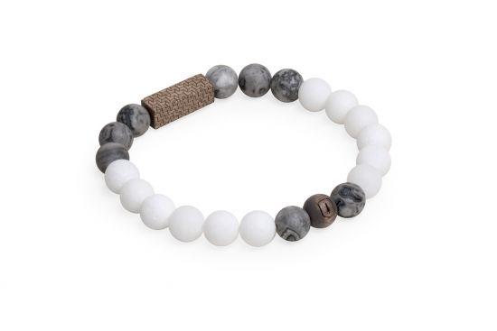 BeWooden - 2 Viame & White  couple bracelets