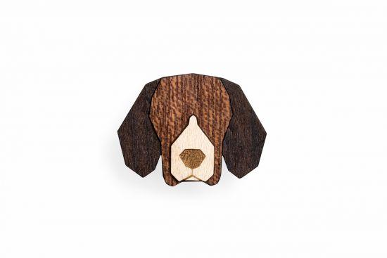 BeWooden - 0 Beagle Brooch