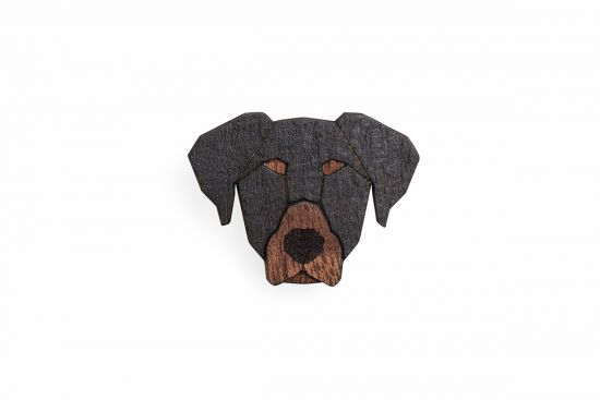 BeWooden - 0 Dobermann Brooch