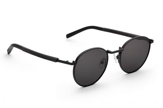 BeWooden - runde-metall-sonnenbrille-schwarz-john-schwarzes-eichenholz-take-a-shot