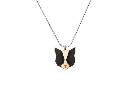 BeWooden - 0 Black cat pendant