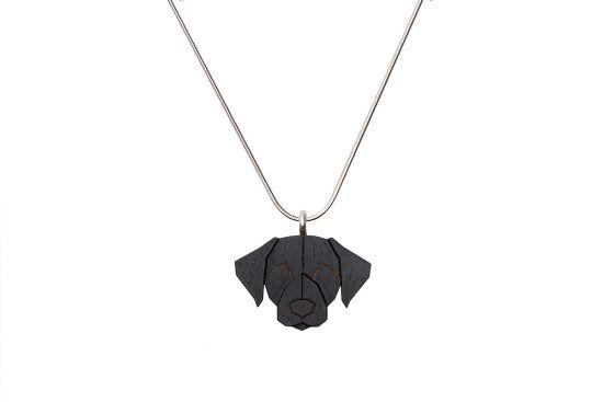 BeWooden - 0 Black Labrador pendant