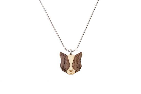BeWooden - 0 Grey cat pendant