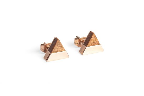 BeWooden - 0 Rea earrings triangle