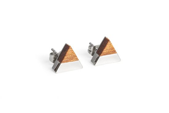 BeWooden - 0 Red earrings triangle
