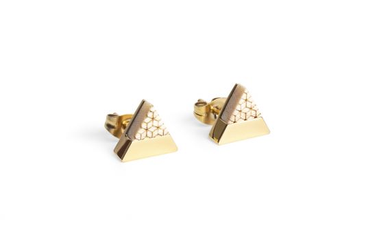 BeWooden - 0 Virie earrings triangle