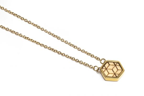 BeWooden - Virie Necklace Hexagon