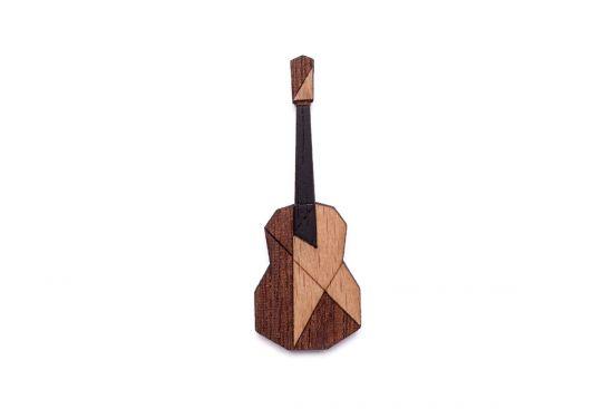BeWooden - Guitar Brooch