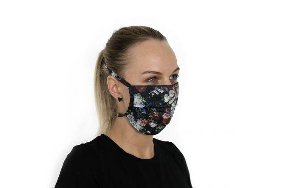 Bavlnené štýlové rúško Rose Mask BeWooden