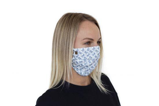 Bavlnené štýlové rúško Paisley Mask BeWooden