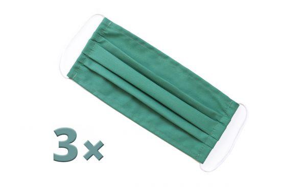 3x Green Mask Set