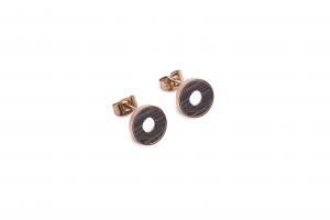 Rose Earrings Circle