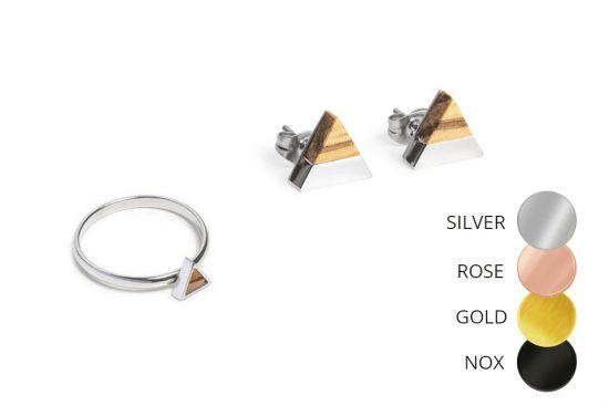Triangle Earrings & Ring