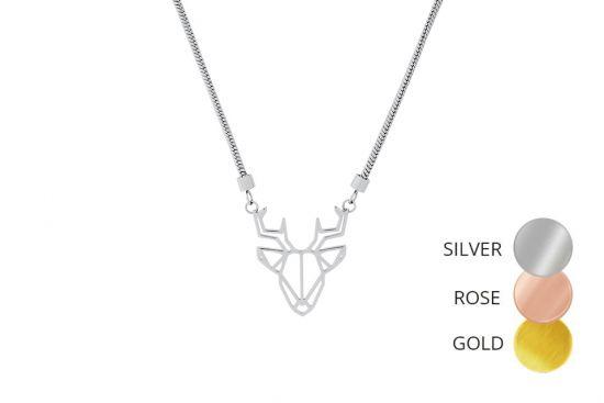 Deer Steel Pendant